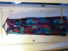 LOVELY NEW  PER UNA LONG DRESS PURPLE MIX SIZE 10 LONG NEW WITH TAGS