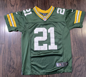 NIKE GREEN BAY PACKERS #21 Charles Woodson NFL FOOTBALL JERSEY YOUTH Size Medium