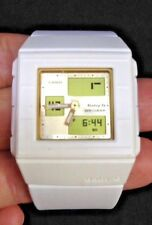 Casio Baby-G BGA-200-7E4 Ana-Digital White Resin / Gold Face Ladies Watch square