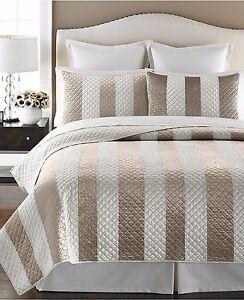 Martha Stewart Collection Siena Stripe Quilt