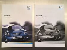 Mazda 3 ACCESSORIES Brochures x2  Inc Price List - 2003 - First generation