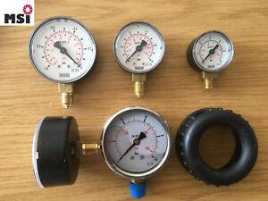 Manometer Vakuumeter Druckluftmanometer Glycerinmanometer Luft Wasser Kappe