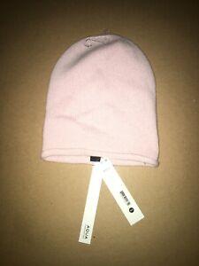 Aqua  Womens Cashmere Beanie Pink  One Size, New