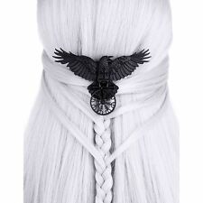 Restyle Raven Helm Of Awe Icelandic Magic Stave Occult Protection Hair Clip