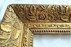 BIG ANTIQUE FITS 10 X 24  GOLD PICTURE FRAME WOOD GESSO ORNATE FINE ART COUNTRY