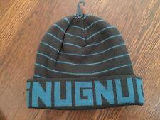 GNU Nug Burton Beanie Hat Toque Sample - Blue and Gray - AWESOME - RARE