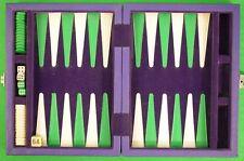 New Purple Leather Backgammon Board