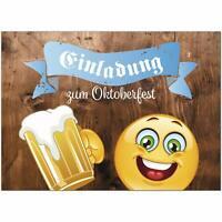 15 Einladungskarten Einladung Oktoberfest Umschläge Motiv Smiley Bierkrug