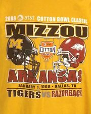 euc Champion 2008 Cotton Bowl Mizzou Missouri Arkansas T-Shirt NCAA tigers XXL