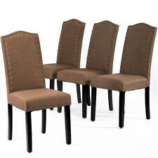 Dining Chairs Armless Kitchen Room Chair Accent Solid Wood Modern  Set Of 4