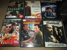6X DVD LOT Syriana Showtime Breach Hotel Rwanda Lost in Space Flight of Phoenix