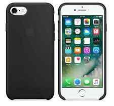 "BLACK 100% GENUINE ORIGINAL Apple Silicone Case For iPhone 7 4.7"" NEW RETAIL BOX"
