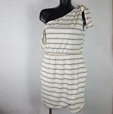 2d41d5e734f Sabo Skirt Striped Romper Single Tie Shoulder Empire Waist Lined Dress Size  L