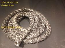 "3/4 inch 3/4"" Black Gasket rope 6 Feet Stove Pellet wood Stove Furnace"