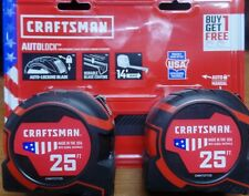 CRAFTSMAN PRO-11 2-Pack 25-ft Auto Lock Tape Measure