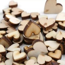100 Pcs Mixed Love Wooden Heart Shape Wedding Table Scatter Christmas Decor Gift