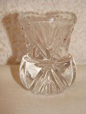 Kristallvase, Minikristallvase,  6cm hoch 158 g  um  1900
