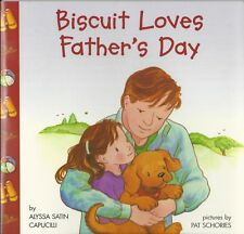 BISCUIT LOVES FATHER'S DAY Alyssa Capucilli NEW Book READER Learn FLAPS Fathers