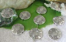 20pcs Tibetan silver flat round spacer beads FC9517