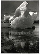 1949 Vintage Print ~ GLACIER BAY, ALASKA Iceberg Photo Engraving By ANSEL ADAMS