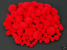 100pk RED POM-POMS