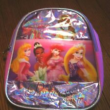 "Disney Princess Lenticular Mini Backpack 10"" H Back Pack Brand New 3D Look"