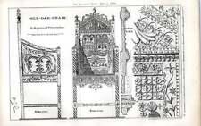 1876 VECCHI OAK CHAIR in possesso di W Galsworthy Davie