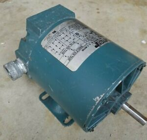 Reliance Electric 1/4 hp 3 phase motor 1725 rpm 48 frame