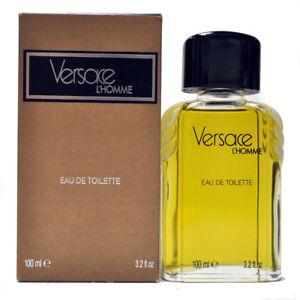 Versace L'homme 3.2 oz / 100 ml Eau de Toilette Splash Original Formula