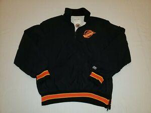 Vancouver Canucks NHL DeLong 1/4 Zip Pullover Jacket, (L) Retro 90s
