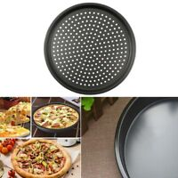 Baking Pan Nonstick Pizza Carbon Steel Tray 28cm Plate Dishes Holder Bakeware