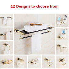 Luxury stainless steel black gold Wall Mount Towel rack Bathroom Accessories set