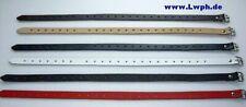 Lederriemen 2,0 x 50,0 in 6 Farben schwarz, rot, weiss, blau, braun, natur lwph