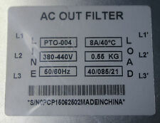 Three Phase 4 kW Output Filter - EMC / EMI for VSD / VFD / Variable Speed Drive