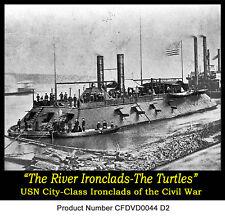 """Navy Civil War old Film Ironclad """"Turtles"""" Mississippi River Farragut Story"""
