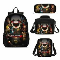 Five Nights at Freddy Kids School Backpack Lunch Shoulder Bag Pen Case Gift Lot