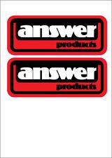 ANSWER USA VINTAGE MOTOCROSS STICKERS (2pcs) HONDA SUZUKI KAWASAKI YAMAHA KTM