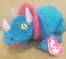 Ty Beanie Babies Hornsly the Triceratops Plush Dinosaur from 2000 Bean Bag