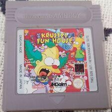 Gameboy módulo Krusty's Fun House juego