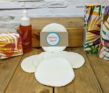 Bamboo Reusable Make Up Remover Pads. Pack of 5 handmade dual sided round fleece