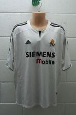 VINTAGE ADIDAS FOOTBALL REAL MADRID HOME SHIRT JERSEY camiesta FIGO 2003/2004 XL