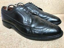 Allen Edmonds 9177 MacNeil Shell Cordovan Mens Black Wingtip Shoes Sz 10.5 E