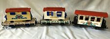 LGB Circus Cars Cage And Lion, Cassa And Passenger Car With Lights