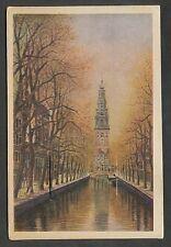 Amsterdam  Groenburgwal Aquarel M. v. Boordt (kaart met luikje)
