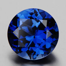 Unheated Blue Sapphire 2.99cts 9mm Round Faceted Cut Shape AAAAA VVS Loose Gems