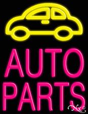 "Brand New ""Auto Parts"" 31x24x3 W/Logo Real Neon Sign w/Custom Options 10442"