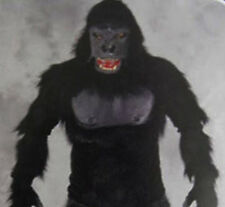 Gorilla Ape Monkey Adult Halloween Costume Mask Gloves Shirt  Chest Zagone