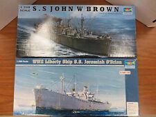 Trumpeter Liberty Ship LOT 5301 Jeremiah O'Brian & 5308 John Brown Model Kit