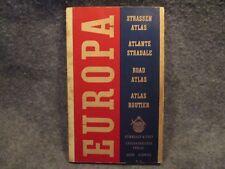 Europa Strassen Atlas Atlante Stradale Road Atlas Routier Maps Map Book Booklet