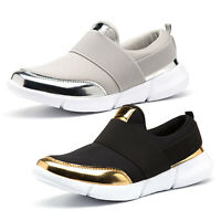 Womens Slip On Sports Running Trainers Jogging Comfy Sneakers Casual Flats Shoes